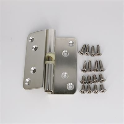 FHRH Polished Anodised Aluminium Right Hand Hinge (Pair)